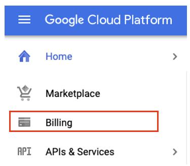 Select Billing from the left-hand navigation menu